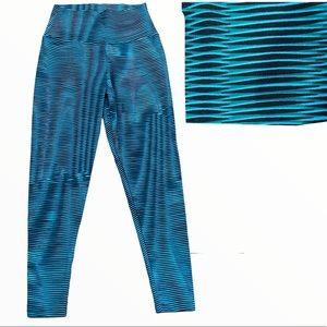 Liquido Blue High Waist Compression Leggings M